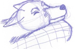 Animal Life Drawing Sleepy Puppie